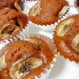 バナナココアマフィン ココナッツオイル使用