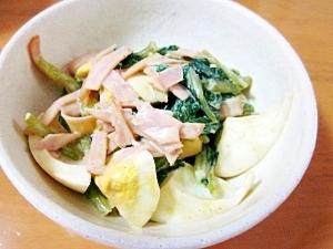 小松菜と玉子のオイマヨカレーサラダ