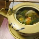松茸の香り高い松茸の土瓶蒸し