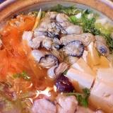 鱈と牡蠣の鍋