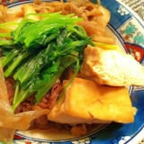 フライパンですき焼き風【肉豆腐】