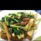 空芯菜と押し豆腐の中華炒め
