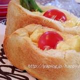 アスパラと卵とプチトマト☆ポケットサンド