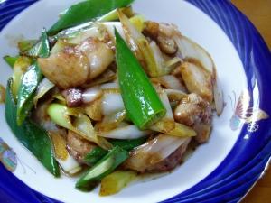 鶏もも肉と長ねぎの中華炒め