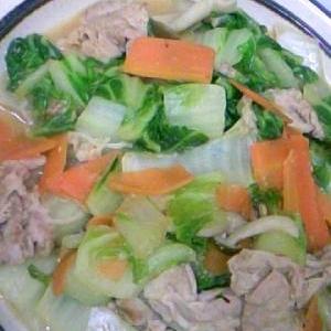 白菜と豚肉の甘辛炒め