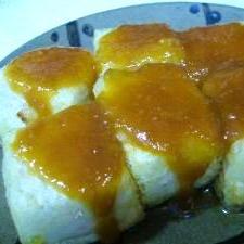 簡単!揚げ豆腐の味噌田楽風♪