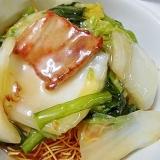 豚バラと白菜と小松菜の 皿うどん