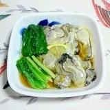 牡蠣と浅葱の和え物~♪