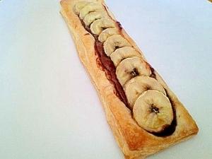 バナナ&ヘーゼルナッツチョコのパイ