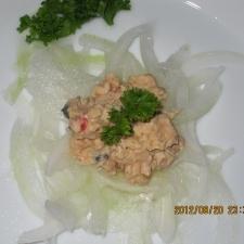 鮭マヨのスライス玉ねぎ