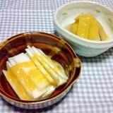 食感を楽しむ 山ウドの黄身酢かけ