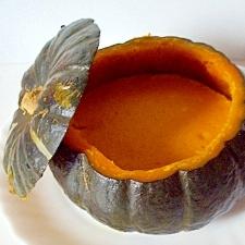 坊ちゃんかぼちゃの丸ごと、かぼちゃプリン
