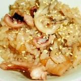 炊飯器で簡単☆舞茸と蛸の炊き込みご飯♪