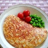 朝食に♪ごまたっぷりの納豆オムレツ