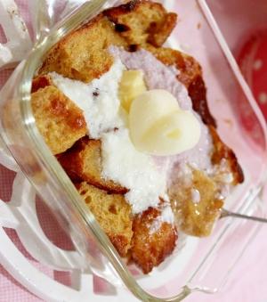 春色♪カシスクリームの簡単ふわふわフレンチトースト
