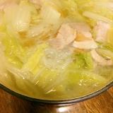 豚バラ肉と白菜鍋