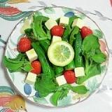 アイスプラントとオクラのサラダ~♪