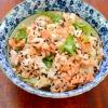 きれいな彩りで見た目の食欲もアップ!「鮭と大葉の混ぜご飯」献立