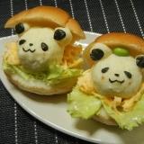 お買いものパンダ・小パンダのポテサラサンド
