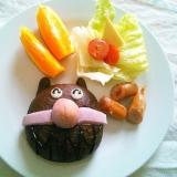 可愛いパンをgetしたら!簡単朝ご飯プレート♡