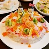 ひな祭り☆ちらし寿司ケーキ