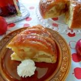 シャキシャキシナモンリンゴ♪豆乳アップルケーキ