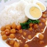 薬膳カレー・ルーで作る ひよこ豆のカレー