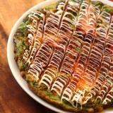 ちょっと韓国テイストなレタスのお好み焼き