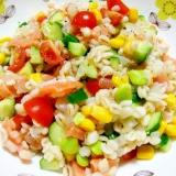 ぷちぷち食感!押し麦の野菜タップリサラダ