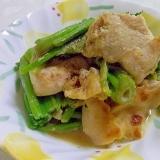 鉄分たっぷり♪鶏胸肉とほうれん草の味噌マヨ炒め