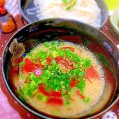 夏に食べたい納豆トマトのトロトロつけ麺
