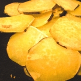 油を使わない 薩摩芋チップス