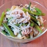 空芯菜ともやしと豚バラ肉の中華炒め