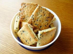 トースターで甘くて美味しいごまクッキー♪