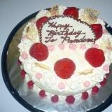 飴細工でケーキのデコレーション
