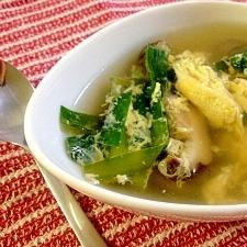 Chinese☆ニラと卵と椎茸の中華スープ