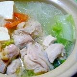 鶏と豆腐のあっさり一人鍋