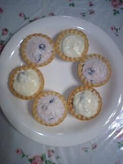 ブルーベリーチーズタルト2種