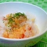 【離乳食】鰹節&いり卵のお粥
