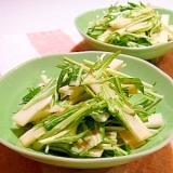 ウドと水菜のサラダ(ポン酢マヨネーズ)