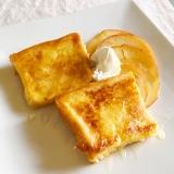 とろ〜フレンチトーストと焼きリンゴ添え♡