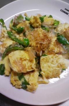 豆腐とピーマンのチャンプルー
