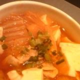 野菜たっぷり豆腐チゲ