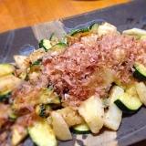 ズッキーニと長芋のマヨ炒め