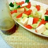手作りわさびドレッシンでうまうま海鮮サラダを食す☆
