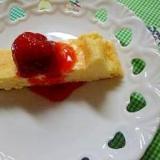冷凍イチゴのハチミツソース