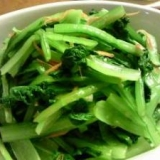 小松菜が美味しい!にんにくポン酢和え