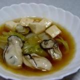 牡蠣(かき)と白菜のあんかけ 柚胡椒風味