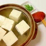 寒くなると食べたくなる!ポカポカ「湯豆腐」