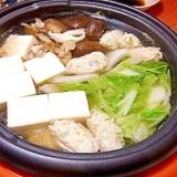 蓮根入り鶏団子の鍋
